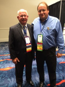 Jim with Real Wealth guest, Marv Feldman, at the 2014 NAIFA National Conference in San Diego