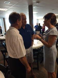 Jim with Rebecca Kleefisch, Lt. Governor of Wisconsin, at a local networking event in Milwaukee