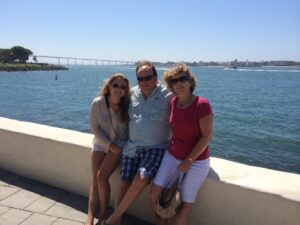 Jim with daughter, Angela, and wife, Joanne in San Diego at the 2014 NAIFA National Conferece