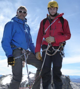 Kevin and Matt Gaskell on the summit of Carstensz Pyramid