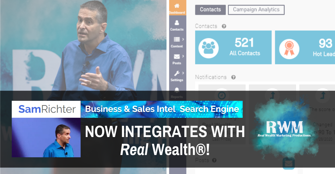 Sales intel engine now integrates in the Real Wealth System